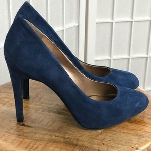 Jessic Simpson Women's Blue Suede Leather Heels